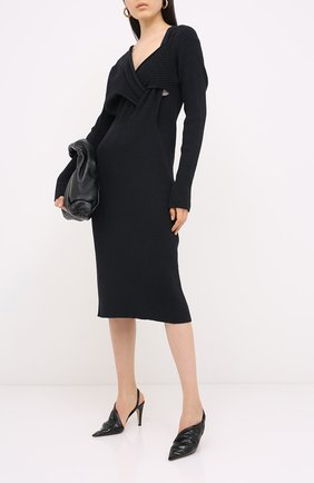 Женская кожаные туфли bv point BOTTEGA VENETA черного цвета, арт. 630183/VBP10 | Фото 2
