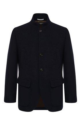 Мужской кашемировый пиджак BRUNELLO CUCINELLI темно-синего цвета, арт. MT4976418 | Фото 1