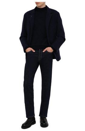 Мужской кашемировый пиджак BRUNELLO CUCINELLI темно-синего цвета, арт. MT4976418 | Фото 2