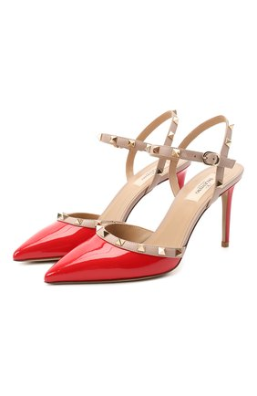 Женская лаковые туфли valentino garavani rockstud VALENTINO красного цвета, арт. UW2S0S98/VNW | Фото 1