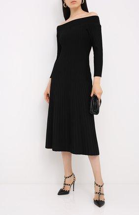 Женская кожаные туфли valentino garavani rockstud VALENTINO черного цвета, арт. UW2S0393/VCE | Фото 2