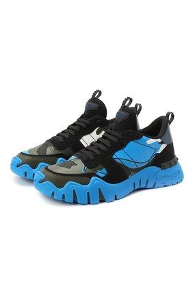 Мужские комбинированные кроссовки valentino garavani rockrunner plus VALENTINO разноцветного цвета, арт. UY2S0C88/NPG | Фото 1