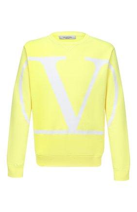 Мужской хлопковый свитшот VALENTINO желтого цвета, арт. UV3MF05H5F7 | Фото 1