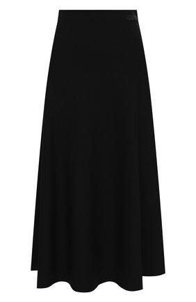 Женская юбка из вискозы VALENTINO черного цвета, арт. UB3KG01N5MN | Фото 1