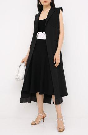 Женская юбка из вискозы VALENTINO черного цвета, арт. UB3KG01N5MN | Фото 2