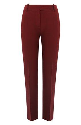 Женские шерстяные брюки VALENTINO бордового цвета, арт. UB3RB3W01CF | Фото 1