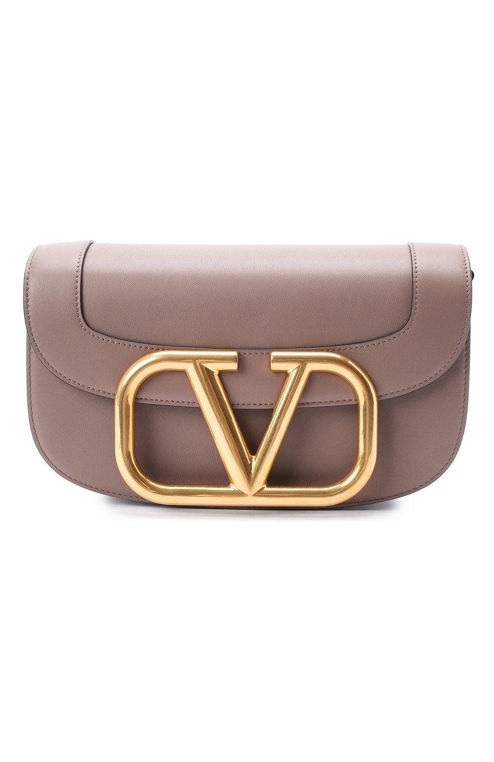 Женская сумка valentino garavani supervee VALENTINO темно-бежевого цвета, арт. UW2B0G09/ZXL | Фото 1