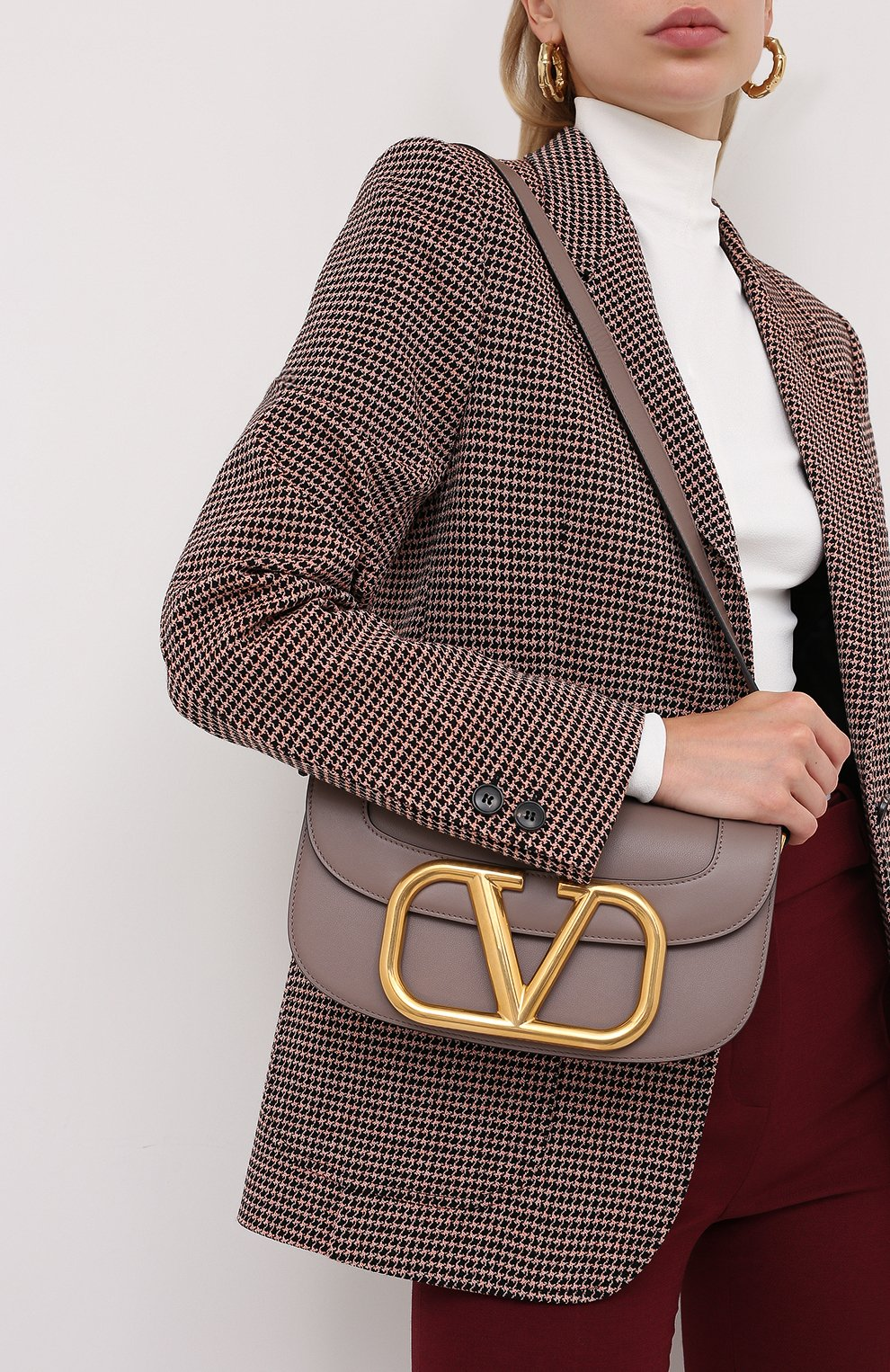 Женская сумка valentino garavani supervee VALENTINO темно-бежевого цвета, арт. UW2B0G09/ZXL | Фото 2