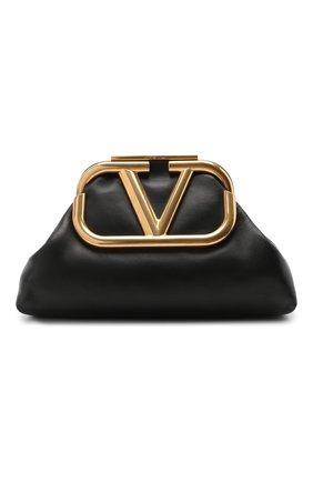 Женский клатч valentino garavani supervee VALENTINO черного цвета, арт. UW2B0H11/BMP | Фото 1
