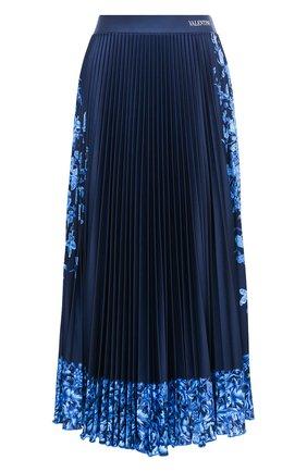 Женская юбка VALENTINO синего цвета, арт. UB3MD01X5QH | Фото 1
