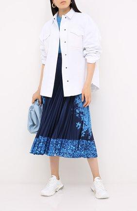 Женская юбка VALENTINO синего цвета, арт. UB3MD01X5QH | Фото 2