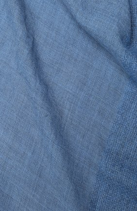 Женская шаль из шерсти и шелка GIORGIO ARMANI голубого цвета, арт. 795311/0A141 | Фото 2