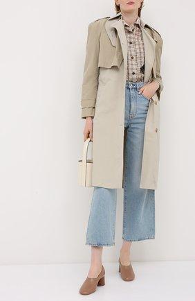 Женская кожаные туфли MANSUR GAVRIEL бежевого цвета, арт. WP20F001KQ | Фото 2
