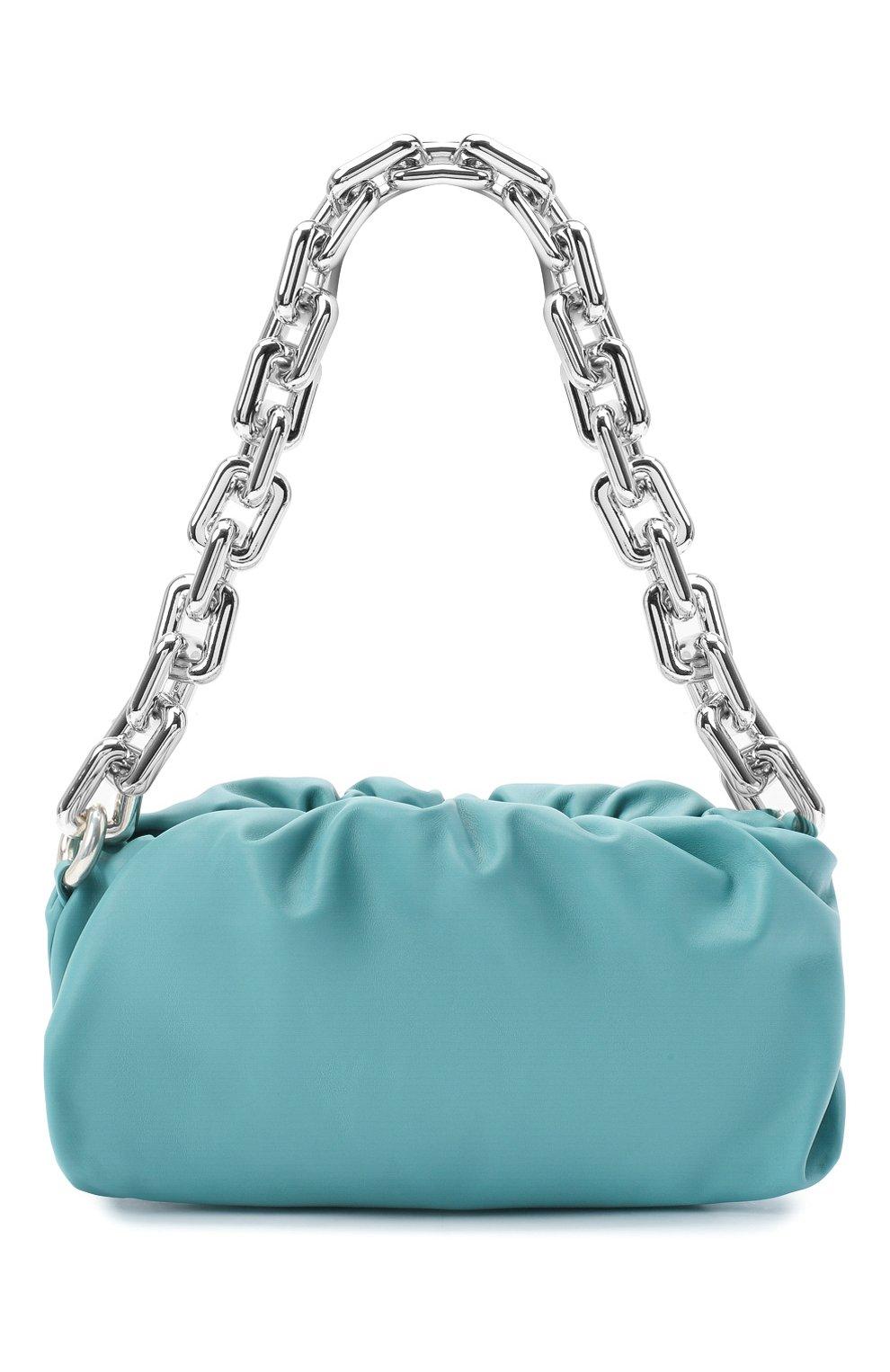Женская сумка chain pouch BOTTEGA VENETA голубого цвета, арт. 620230/VCP40   Фото 1
