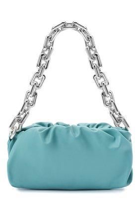 Женская сумка chain pouch BOTTEGA VENETA голубого цвета, арт. 620230/VCP40   Фото 1 (Сумки-технические: Сумки top-handle; Материал: Натуральная кожа; Размер: medium)