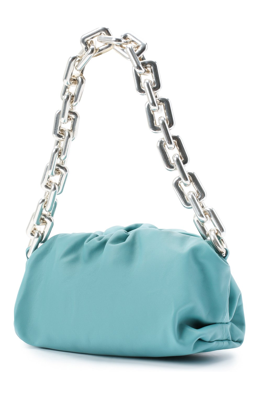 Женская сумка chain pouch BOTTEGA VENETA голубого цвета, арт. 620230/VCP40   Фото 3