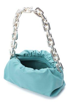 Женская сумка chain pouch BOTTEGA VENETA голубого цвета, арт. 620230/VCP40   Фото 4