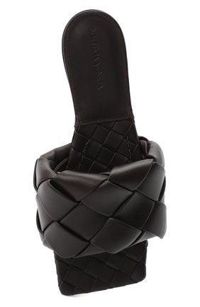 Женские кожаные шлепанцы BOTTEGA VENETA темно-коричневого цвета, арт. 608853/VBSS0 | Фото 5