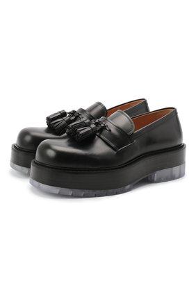 Мужские кожаные лоферы BOTTEGA VENETA черного цвета, арт. 632511/VBS30 | Фото 1