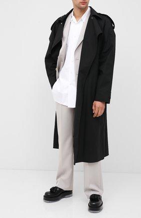 Мужские кожаные лоферы BOTTEGA VENETA черного цвета, арт. 632511/VBS30 | Фото 2