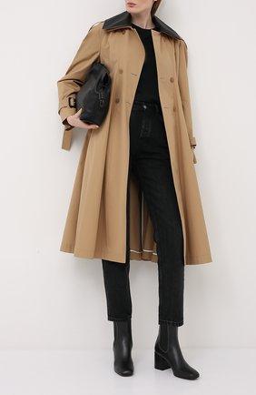 Женские кожаные ботильоны BRUNELLO CUCINELLI черного цвета, арт. MZ0AC1939 | Фото 2 (Каблук высота: Средний; Материал внутренний: Натуральная кожа; Материал внешний: Кожа; Подошва: Плоская; Каблук тип: Устойчивый)