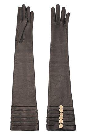 Женские кожаные перчатки GIORGIO ARMANI черного цвета, арт. 794209/0A209 | Фото 2