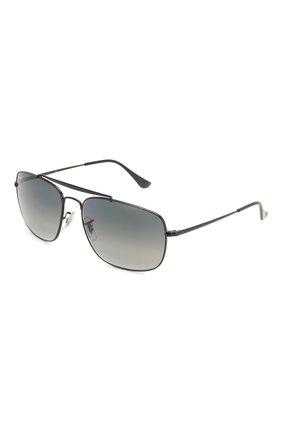 Мужские солнцезащитные очки RAY-BAN черного цвета, арт. 3560-002/71 | Фото 1