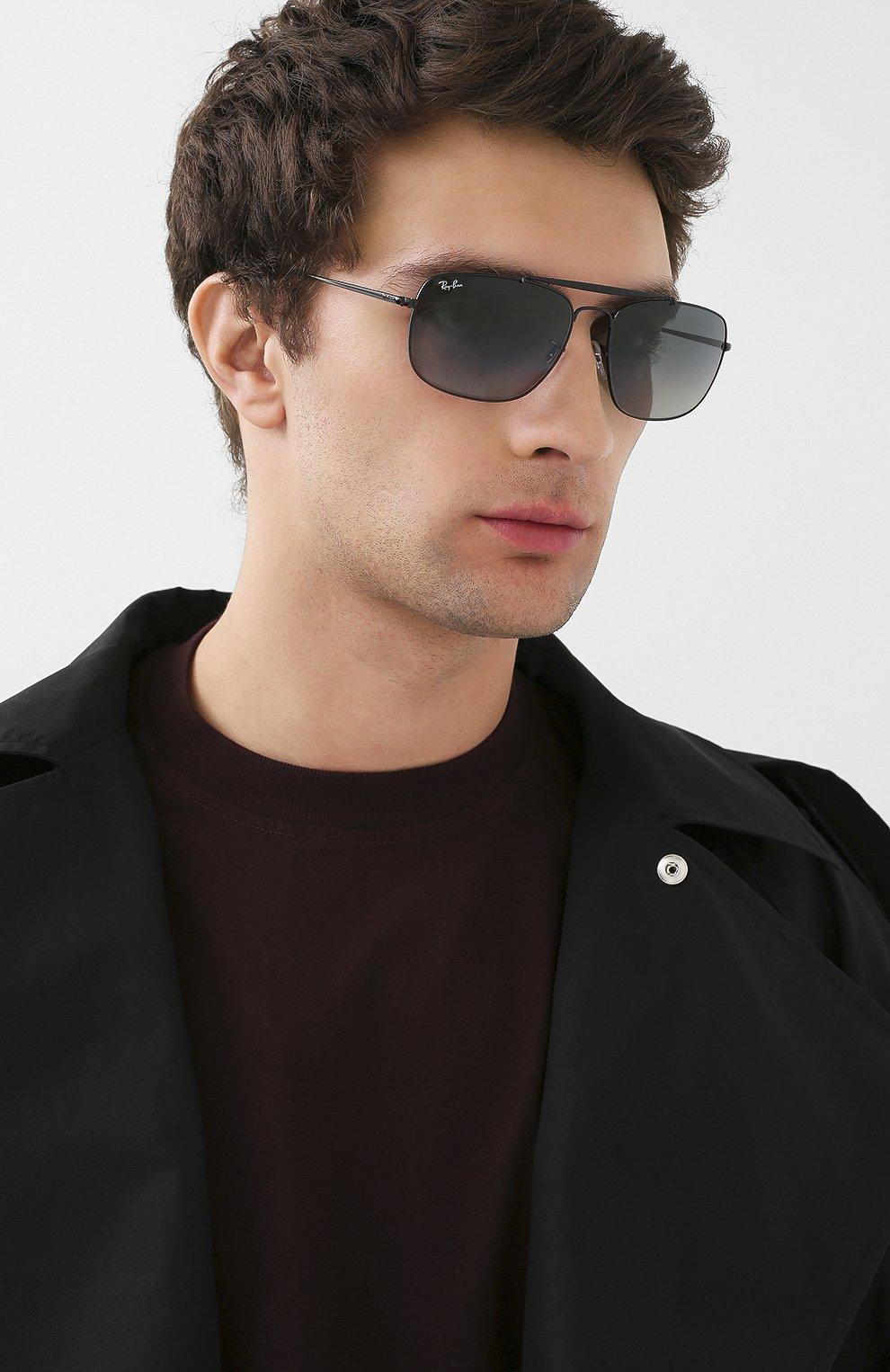 Мужские солнцезащитные очки RAY-BAN черного цвета, арт. 3560-002/71 | Фото 2