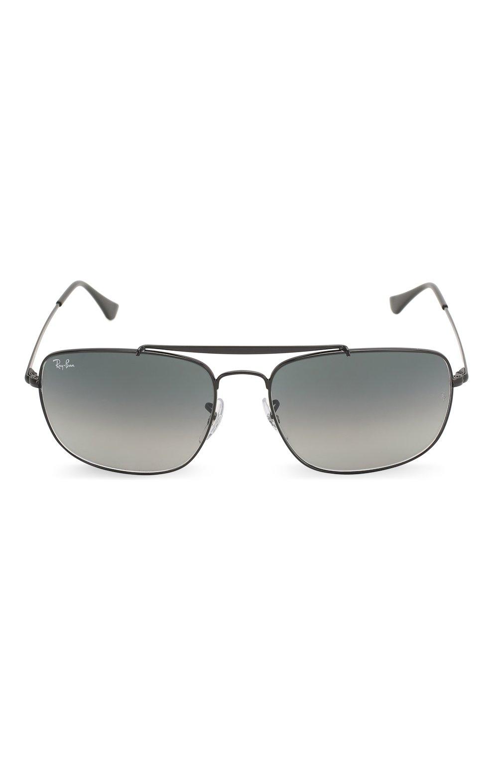 Мужские солнцезащитные очки RAY-BAN черного цвета, арт. 3560-002/71 | Фото 3