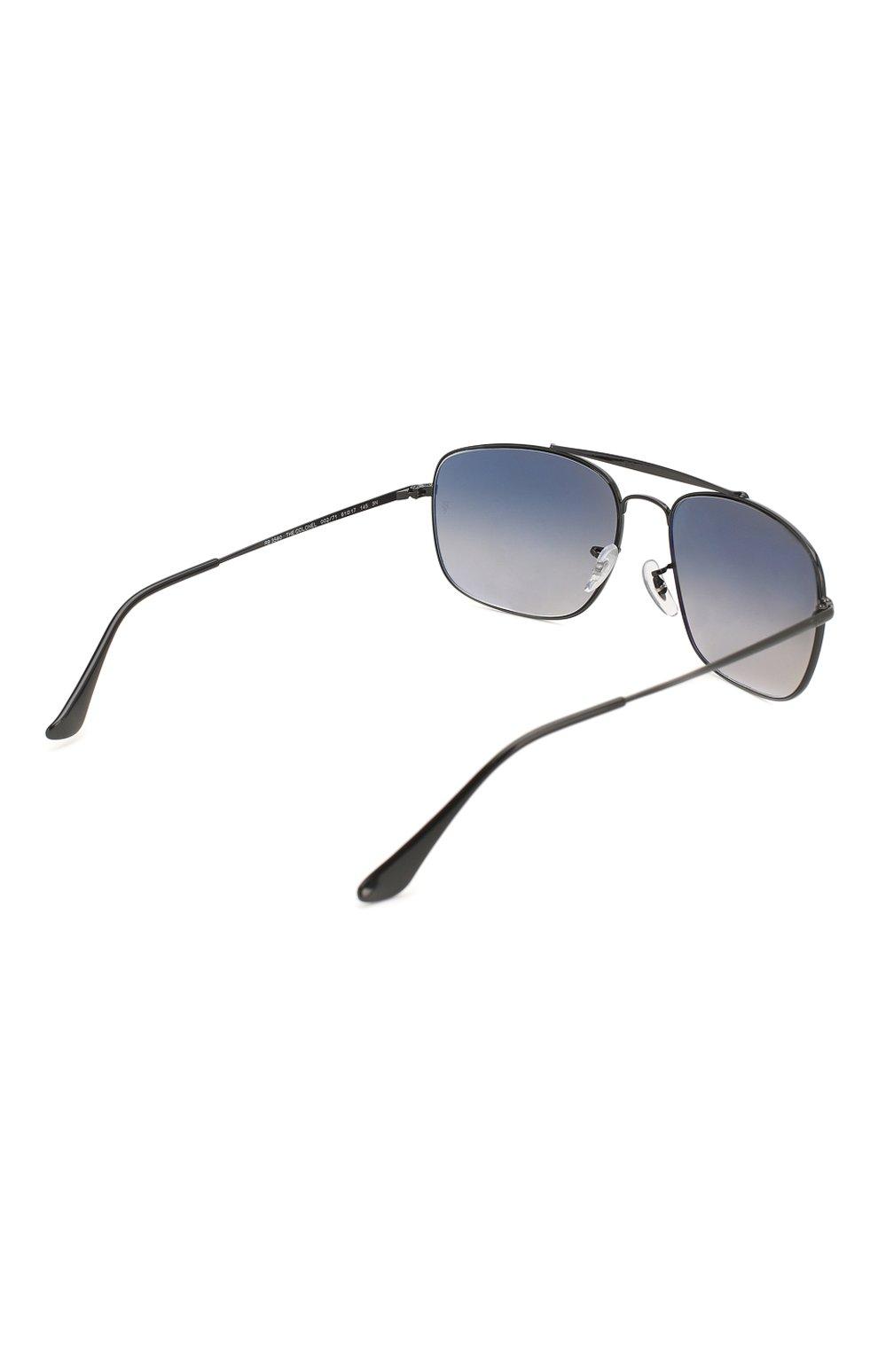Мужские солнцезащитные очки RAY-BAN черного цвета, арт. 3560-002/71 | Фото 4