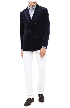 Мужской хлопковый пиджак BRUNELLO CUCINELLI темно-синего цвета, арт. ML4637BBD | Фото 2