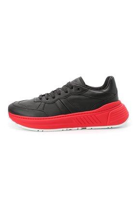 Мужские кожаные кроссовки BOTTEGA VENETA черного цвета, арт. 565646/VT040 | Фото 3 (Материал внешний: Кожа; Материал внутренний: Натуральная кожа; Стили: Гранж; Подошва: Массивная)