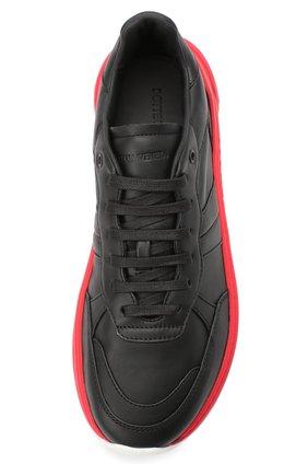 Мужские кожаные кроссовки BOTTEGA VENETA черного цвета, арт. 565646/VT040 | Фото 5 (Материал внешний: Кожа; Материал внутренний: Натуральная кожа; Стили: Гранж; Подошва: Массивная)