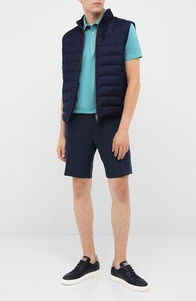 Мужские кожаные кеды BRUNELLO CUCINELLI темно-синего цвета, арт. MZUBTSJ233 | Фото 2