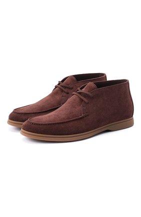 Мужские замшевые ботинки BRUNELLO CUCINELLI коричневого цвета, арт. MZUC0BB857 | Фото 1