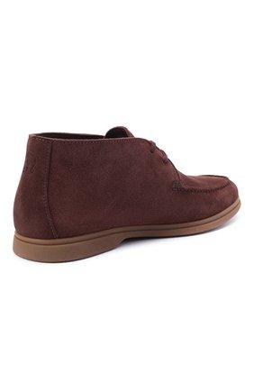 Мужские замшевые ботинки BRUNELLO CUCINELLI коричневого цвета, арт. MZUC0BB857 | Фото 4