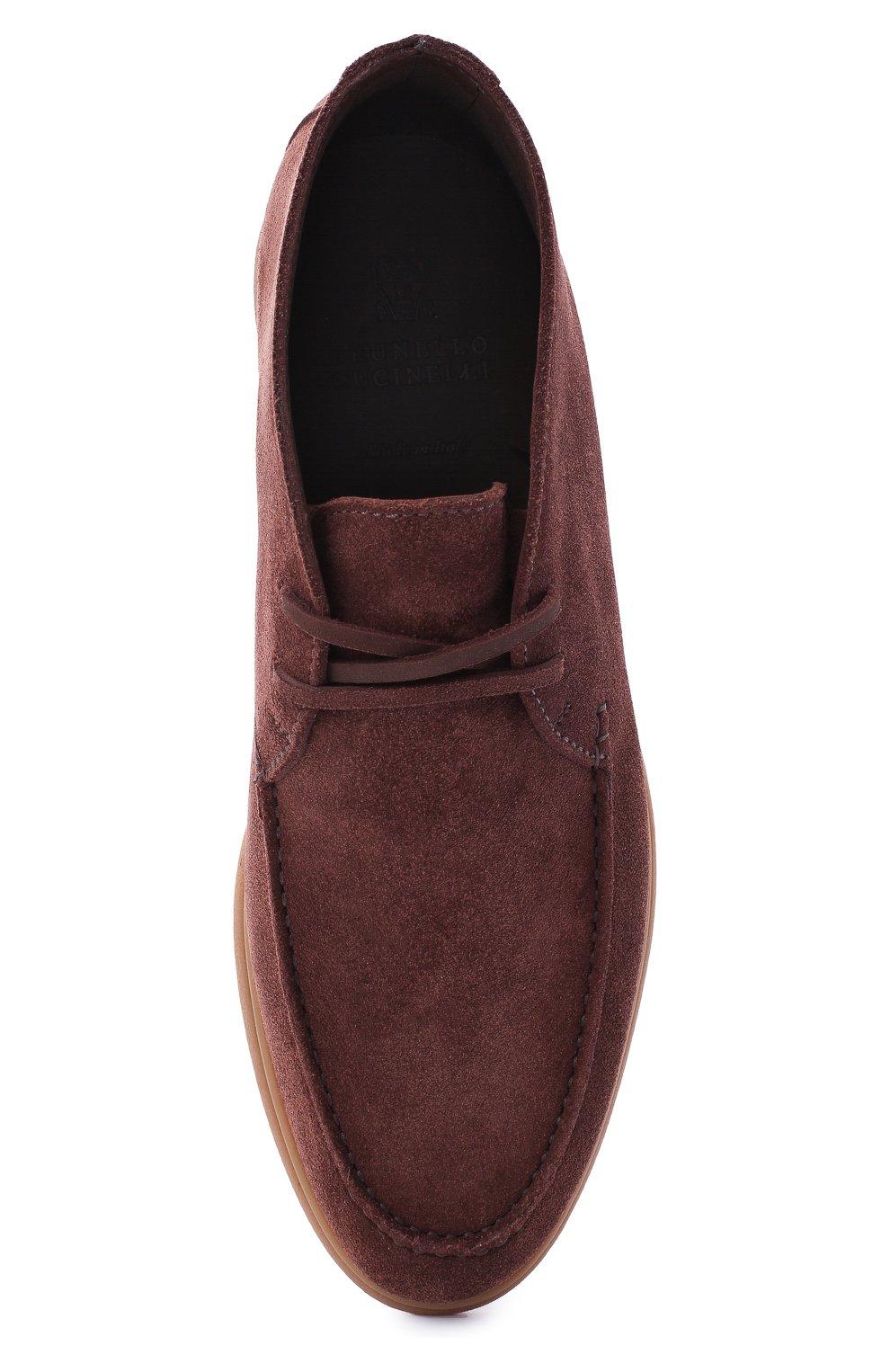 Мужские замшевые ботинки BRUNELLO CUCINELLI коричневого цвета, арт. MZUC0BB857 | Фото 5