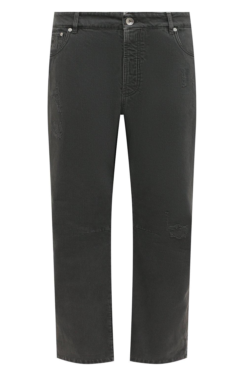 Мужские джинсы BRUNELLO CUCINELLI серого цвета, арт. M262PX2340 | Фото 1