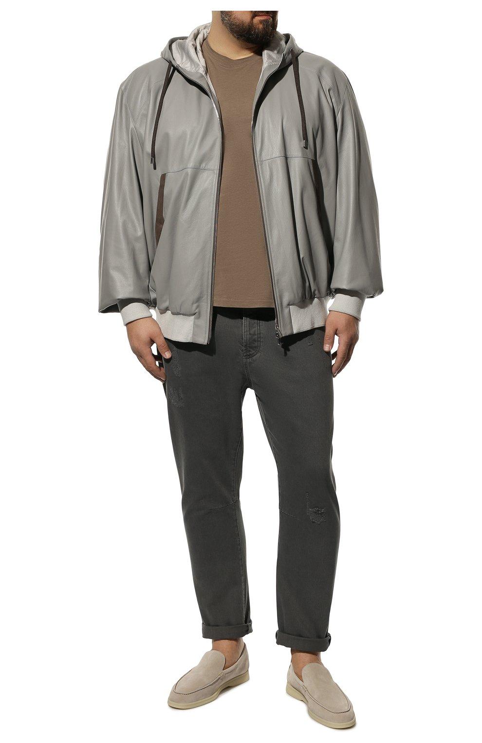 Мужские джинсы BRUNELLO CUCINELLI серого цвета, арт. M262PX2340 | Фото 2