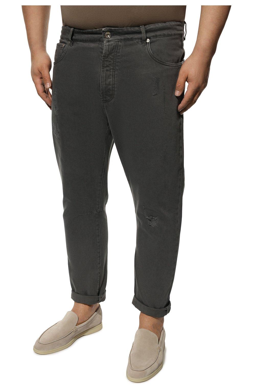Мужские джинсы BRUNELLO CUCINELLI серого цвета, арт. M262PX2340 | Фото 3