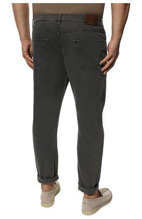 Мужские джинсы BRUNELLO CUCINELLI серого цвета, арт. M262PX2340 | Фото 4