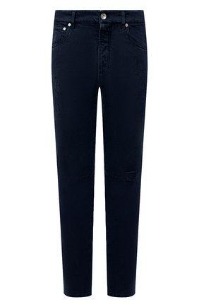 Мужские джинсы BRUNELLO CUCINELLI темно-синего цвета, арт. M262PX2340 | Фото 1