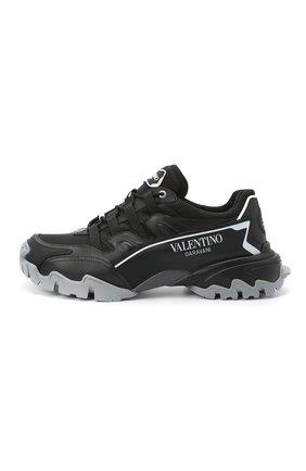 Мужские комбинированные кроссовки valentino garavani climbers VALENTINO черного цвета, арт. UY2S0C20/DRZ | Фото 3