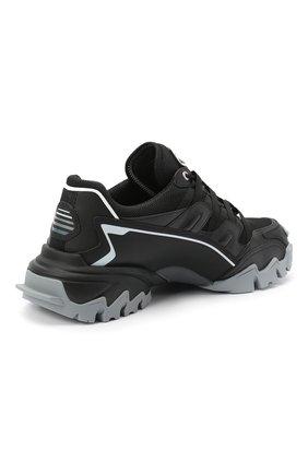 Мужские комбинированные кроссовки valentino garavani climbers VALENTINO черного цвета, арт. UY2S0C20/DRZ | Фото 4