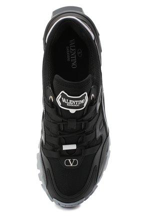 Мужские комбинированные кроссовки valentino garavani climbers VALENTINO черного цвета, арт. UY2S0C20/DRZ | Фото 5