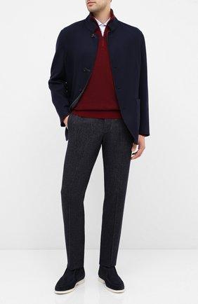 Мужской шерстяные брюки GIORGIO ARMANI темно-синего цвета, арт. 0WGPP0EH/T021V | Фото 2
