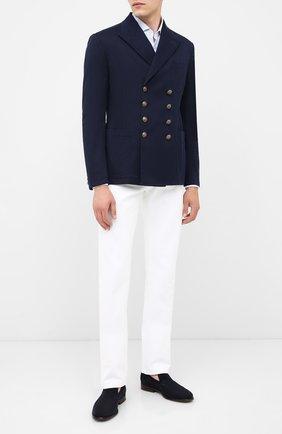 Мужской хлопковый пиджак RALPH LAUREN темно-синего цвета, арт. 798797944 | Фото 2