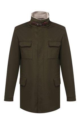 Мужская кашемировая куртка LORO PIANA хаки цвета, арт. FAF9172 | Фото 1