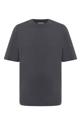 Мужская хлопковая футболка BOTTEGA VENETA темно-серого цвета, арт. 625982/VF1U0 | Фото 1