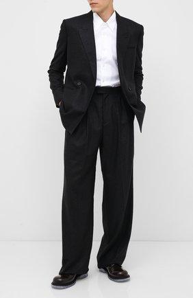 Мужской кожаные дерби BOTTEGA VENETA темно-коричневого цвета, арт. 631313/VBS30 | Фото 2